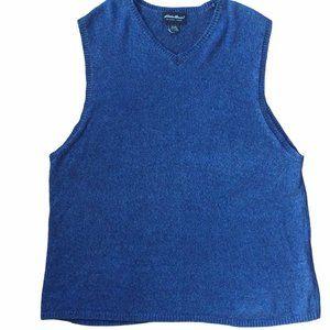 Eddie Bauer Linen Blend XL Oversized Vest 54 chest